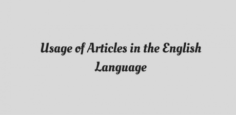 Usage of article in the English