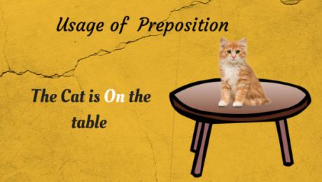 Usage of Preposition
