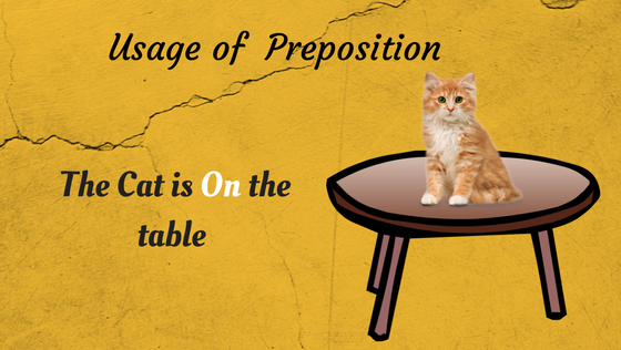 Usage of Preposition